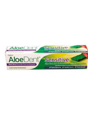 Cuidate con nuestros productos de higiene bucal DENTÍFRICO CON ALOE VERA SENSITIVE, 100 ml