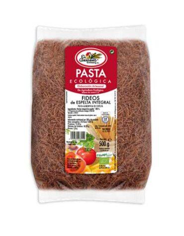 Disfruta del arroz y pasta FIDEOS DE TRIGO ESPELTA INTEGRAL BIO, 500 g