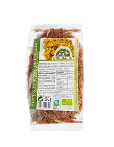 Disfruta del arroz y pasta FIDEUA VEGETAL DE ESPELTA250 GR.