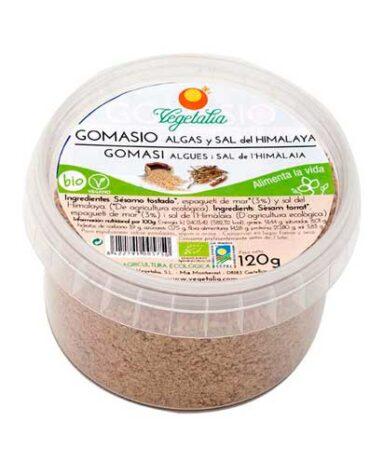 Descubre nuestras sales, condimentos y salsas GOMASIO CON ALGAS Y SAL DEL HIMALAYA 120 grs