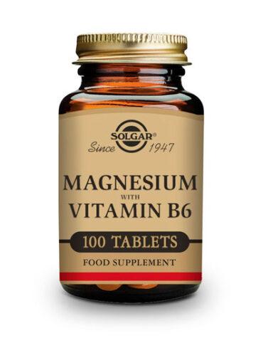 Cuidate con las vitaminas y minerales MAGNESIO CON VIT. B6 100 COMP