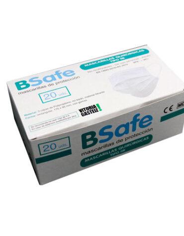 Cuidate con nuestros productos de sanitario MASCARILLAS QUIRURJICAS 3 CAPAS BFE 98% ADULTO CAJA 20 UNIDADES