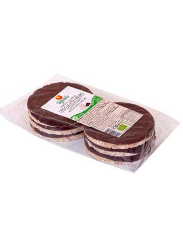 Descubre nuestros aperitivos y frutos secos BIO TORTITAS DE ARROZ CON CHOCOLATE NEGRO 100G