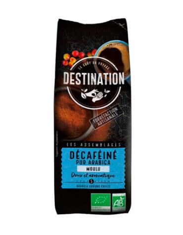 Disfruta de las bebidas solubles CAFE MOLIDO DESCAFEINADO SUAVE 100% ARABICA 250 grs bio