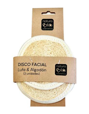 Cuidate con nuestros productos de línea facial DISCO FACIAL LUFA Y ALGODON 2 UD