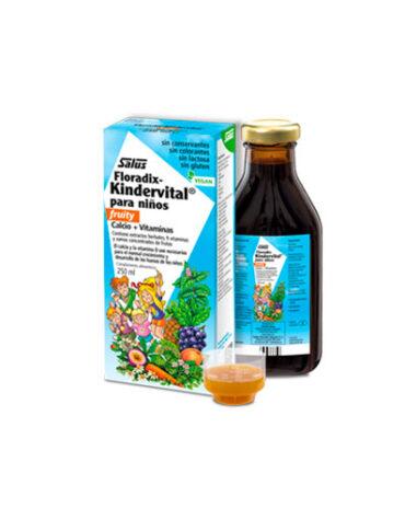 Carga las pilas con jaleas y energeticos KINDERVITAL FRUITY 250ml niños