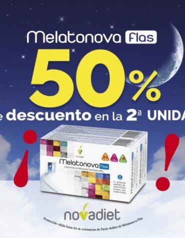 Relaja y controla tu sistema nervioso PACK MELATONOVA FLASH 2ª UNIDAD AL 50% DE DESCUENTO