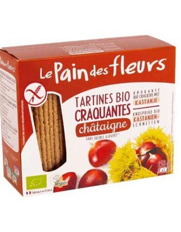 Descubre nuestros productos para celiacos PAN DE FLORES CON CASTAÑA SIN GLUTEN BIO, 150 g