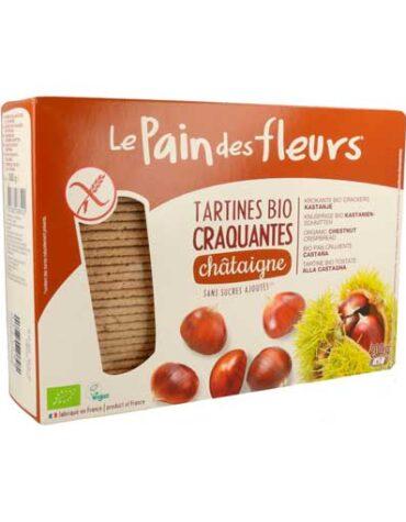 Descubre nuestros productos para celiacos PAN DE FLORES CON CASTAÑA SIN GLUTEN BIO, 300 g