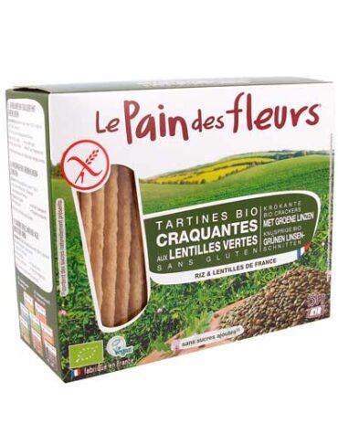 Descubre nuestros productos para celiacos PAN DE FLORES CON LENTEJAS VERDES SIN GLUTEN BIO, 150 g