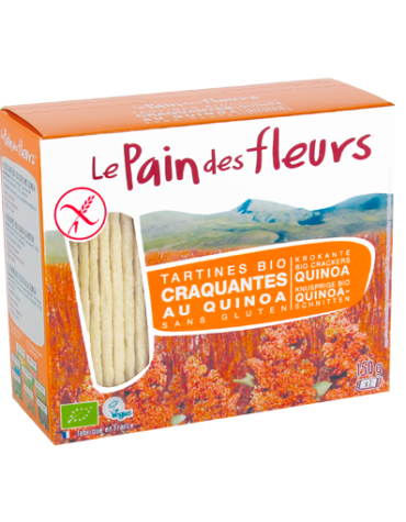 Descubre nuestros productos para celiacos PAN DE FLORES CON QUINOA SIN GLUTEN BIO, 150 g
