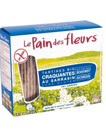Descubre nuestros productos para celiacos PAN DE FLORES TRIGO SARRACENO SIN SAL SIN GLUTEN BIO, 150 g