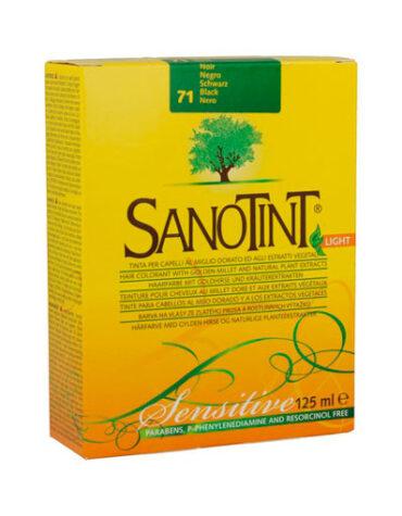 Cuidate con nuestros productos de línea capilar SANOTINT SENSITIVE 71 NEGRO 125ML