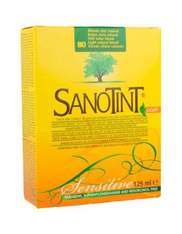 Cuidate con nuestros productos de línea capilar SANOTINT SENSITIVE 80 RUBIO CLARO NATURAL 125ML