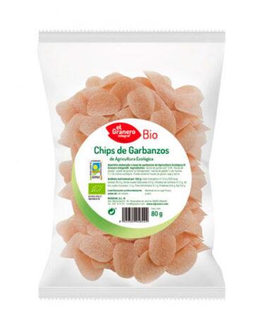 Descubre nuestros aperitivos y frutos secos CHIPS DE GARBANZOS BIO, 80 g