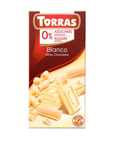 Disfruta de la repostería y chocolates CHOCOLATE BLANCO SIN AZÚCAR, 75 g
