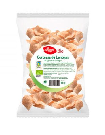 Descubre nuestros aperitivos y frutos secos CORTEZAS DE LENTEJAS CON CÚRCUMA BIO, 65 g