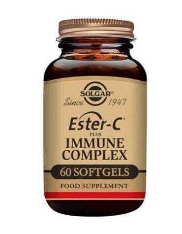 Rerfuerza tu sistema inmunológico ESTER-C PLUS IMMUNE COMPLEX 60 CAP