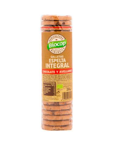 Disfruta de la repostería y chocolates GALLETA ESPELTA INT. CHOCO AVELLANAS 250G