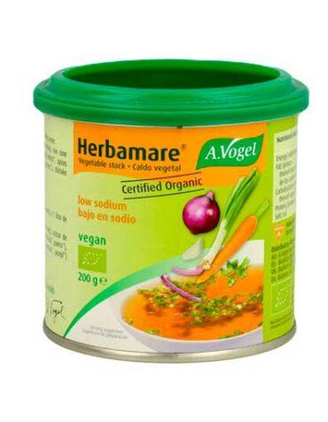 Descubre nuestras sales, condimentos y salsas HERBAMARE CALDO BAJO EN SODIO BOTE