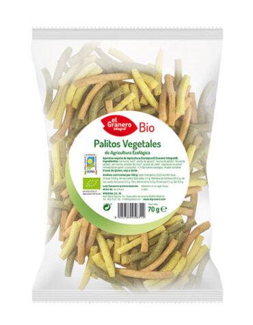 Descubre nuestros aperitivos y frutos secos PALITOS VEGETALES BIO, 70 G