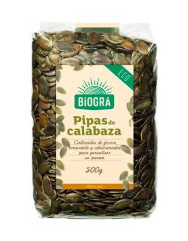 Descubre nuestra variedad de granos y semillas Pipas de calabaza 500 gr