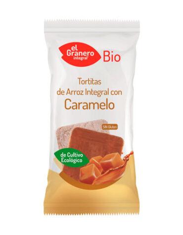 Descubre nuestros aperitivos y frutos secos TORTITAS DE ARROZ CON CARAMELO BIO 90G
