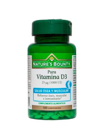 Cuidate con las vitaminas VITAMINA D3 25UG 1000UI 100 COMPRIMIDOS