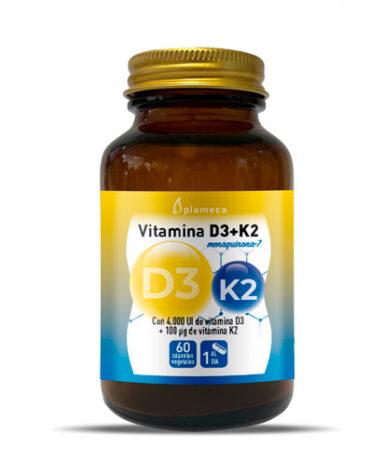 Cuidate con las vitaminas VITAMINA D3+K2 60 CAPSULAS