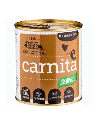 Disfruta de los patés y carnes vegetales CARNITA VERDURAS 300G