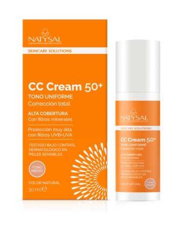 Cuidate con nuestros productos de línea facial CC CREAM SPF 50+ FILTROS TONO MEDIO 30ML
