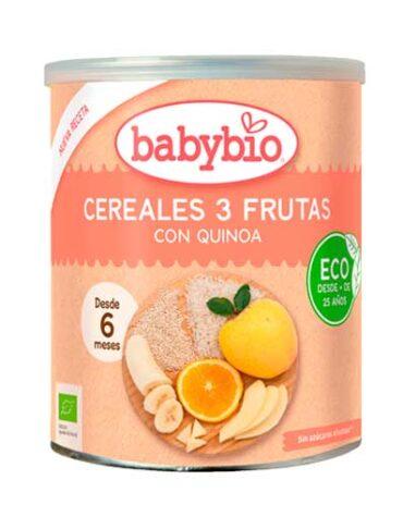 Cuida de los pequeños con nuestra alim infantil CEREAL 3 FRUTAS QUINOA 220G