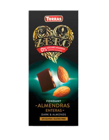Disfruta de la repostería y chocolates CHOCOLATE NEGRO CON ALMENDRA SIN AZÚCAR, 150 g