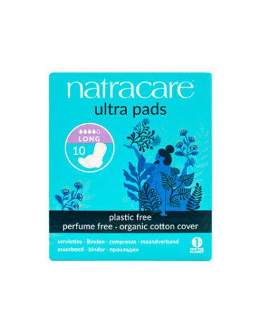 Cuidate con nuestros productos de higiene intima COMPRESA LARGA CON ALAS 10 uds,