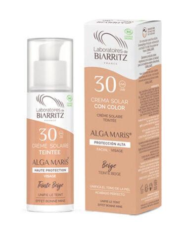 Cuidate con nuestros productos de línea facial CREMA FACIAL COLOR BEIGE SPF30 50ML BIO