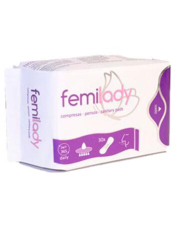 Cuidate con nuestros productos de higiene intima SALVASLIP FEMILADY 30UDS