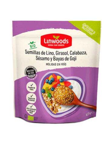Descubre nuestra variedad de granos y semillas SEMILLAS DE LINO, GIRASOL, CALABAZA, CHIA Y BAYAS DE GOJI 425G