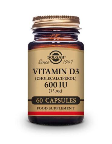 Cuidate con las vitaminas VITAMIN D3 600 UI 60 CAPS