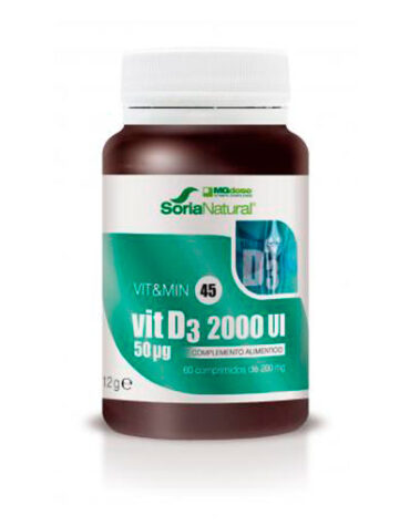 Cuidate con las vitaminas VIT&MIN 45 VITAMINA D3 2000UI 60comp