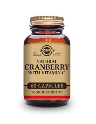 Cuidate con los antioxidantes ARÁNDANO ROJO 60 CON VITAMINA C Cápsulas Vegetales.