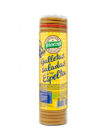 Disfruta de la repostería y chocolates GALLETAS SALADAS DE TRIGO DE ESPELTA 230G BIO