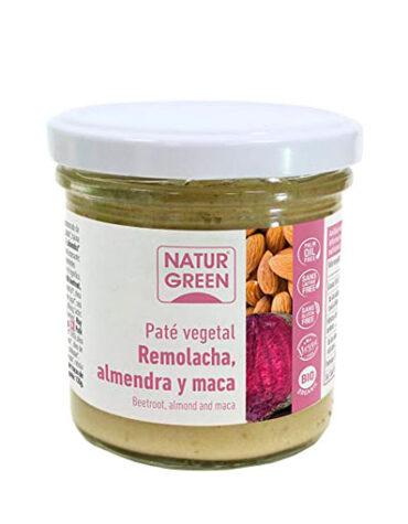 Disfruta de los patés y carnes vegetales PATE VEGETAL DE REMOLACHA, ALMENDRA Y MACA 130G