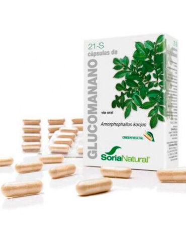 Seleccionamos las mejores plantas en comprimidos CAPSULAS 21-S GLUCOMANANO 60 caps