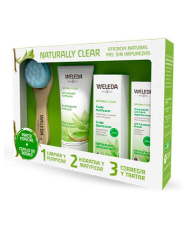 Cuidate con nuestros productos de línea corporal PACK FACIAL NATURALLY CLEAR+CEPILLO FACIAL