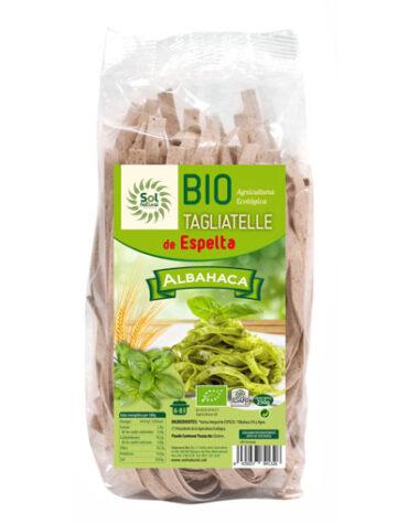 Disfruta del arroz y pasta TAGLIATELLE DE ESPELTA CON ALBAHACA BIO 250GRS