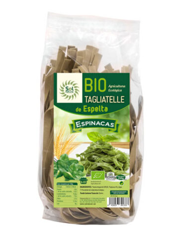 Disfruta del arroz y pasta TAGLIATELLE DE ESPELTA CON ESPINACAS BIO 250GR