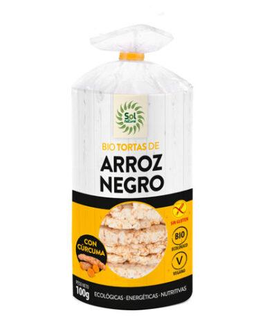 Descubre nuestros aperitivos y frutos secos TORTAS ARROZ NEGRO Y CURCUMA S/G BIO 100GR